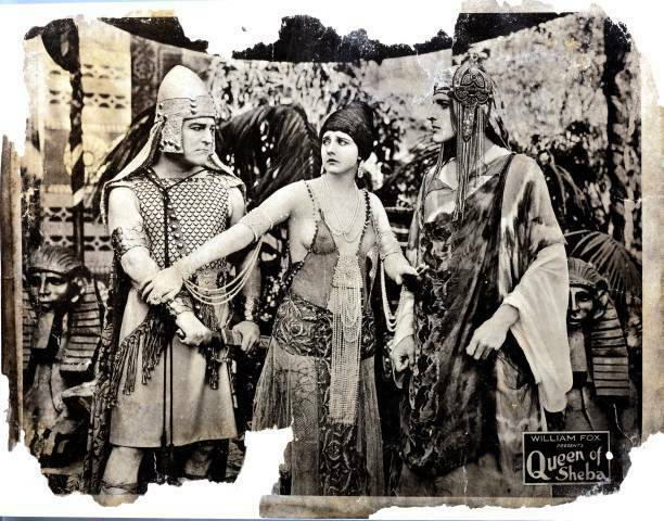 OLD MOVIE PHOTO Queen Of Sheba Lobby Card George Siegmann Betty Blythe Fritz