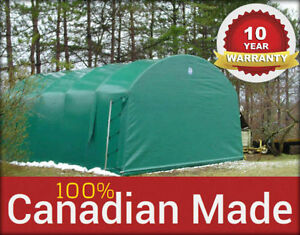 CANADIAN-MADE | PORTABLE GARAGES | 10 YEAR WARRANTY