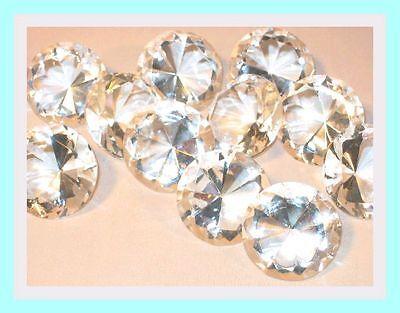 12 Stück Prismadiamanten mit Brilliantschliff  klarweiß