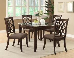 BRAND NEW!! ESPRESSO FINISH, SQUARE DINING 5 Pc CLEARANCE