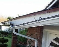 Eavestrough/gutter repair, installed and cleaning. Leaf guards