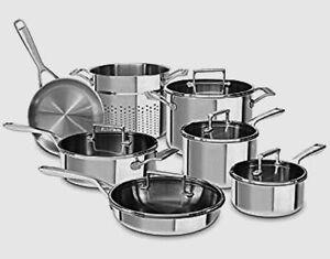 BRAND NEW Restaurant 12 piece tri-ply Kitchen Aid Stainless Set