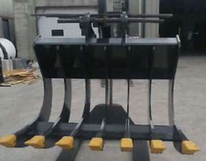 EXCAVATOR ROOT RAKE - CANADIAN BUILT - ALL SIZES AVAILABLE Prince George British Columbia image 2