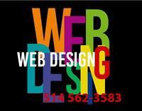 CONCEPTION SITE WEB ET HÉBERGEMENT 1 AN INCLUS —449— CARTE D'AFFAIRES, LOGO, DÉPLIANT, GRAPHISME, INFOGRAPHIE