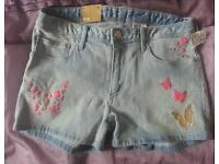 Brand new h&m girls shorts age 12