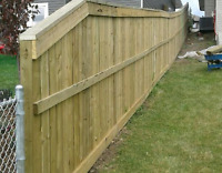 WE BUILD FENCES,DECKS AND CONCRETE