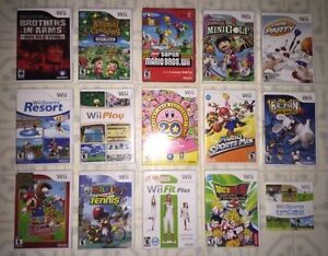 Wii Games : New Super Mario , Animal Crossing, Kirby Collection