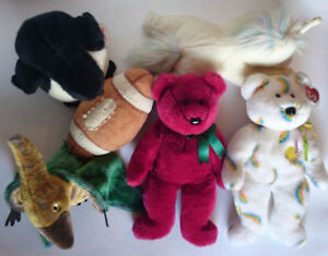 LIKE NEW 5 TY Beanie Buddies Large Stuffed Animals