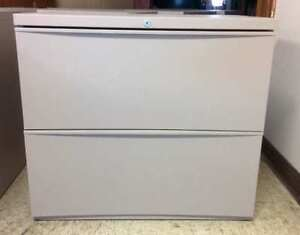 Lateral filing cabinet; 2 drawer lateral filing cabinet