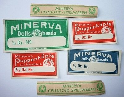 Konvolut Minerva Verkaufskarton - Etiketten 30er Jahre