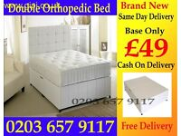 NEW DOUBLE DIVAN BED WITH MATTRESS COLOR OPTION AVAILABLE