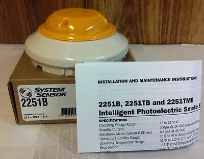 System Sensor 2251b Addressable Smoke Detector Head Nib