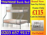 Brand New bunk bed...Top Single Bottom Double Bed Free Delivery