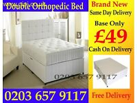 DOUBLE DIVAN BED WITH MATTRESS COLOR OPTION AVAILABLE
