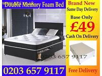 NEW BED BASE AND MATTRESS SINGLE/DOUBLE/KING