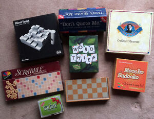 Lot of 8 BOARD GAMES - good condition $40