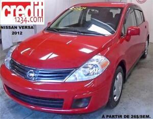 2012 Nissan Versa 1,8 S, À PARTIR DE 22$/sem. 100% approuvé !!!