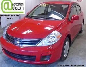 2012 Nissan Versa 1,8 S,À PARTIR DE 22$/SEM. 100% APPROUVÉ !
