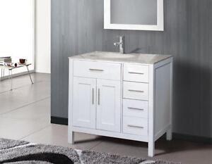 Vanité 36'', DÉMO, comptoir marbre / 36'' vanity, marble counter