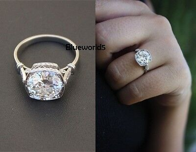2.5ct near  White Moissanite Wedding Engagement Ring 14K white gold