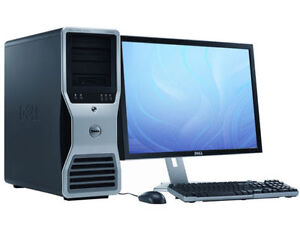 DELL Precision T7500 Workstation i7 Xeon 24GB RAM 256GB SSD HDD