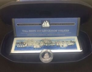 Silver: 2000 TALL SHIPS - 10 Cent Silver Coin and Stamp Set