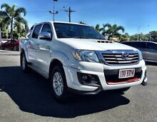 2014 Toyota Hilux KUN26R MY14 SR5 Double Cab White 5 Speed Manual Utility Mackay 4740 Mackay City Preview