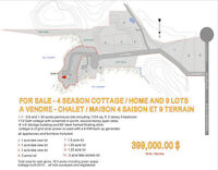 Waterfront lakefront Property Lots for Sale Gatineau Quebec