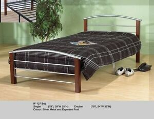SINGLE OR DOUBLE METAL BEDS