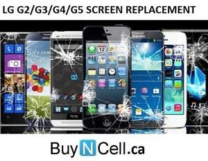 ANY LG SMART PHONE SCREEN REPLACEMENT - 3 MONTHS WARRANTY