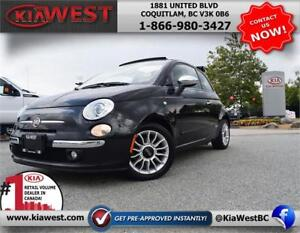 2012 Fiat 500C Lounge Soft Top Convertible