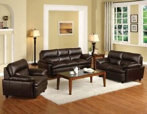 2PC BONDED LEATHER SOFA SET $1098