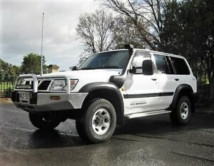 1999 Nissan Patrol GU ST White 5 Speed Manual Wagon Enfield Port Adelaide Area Preview