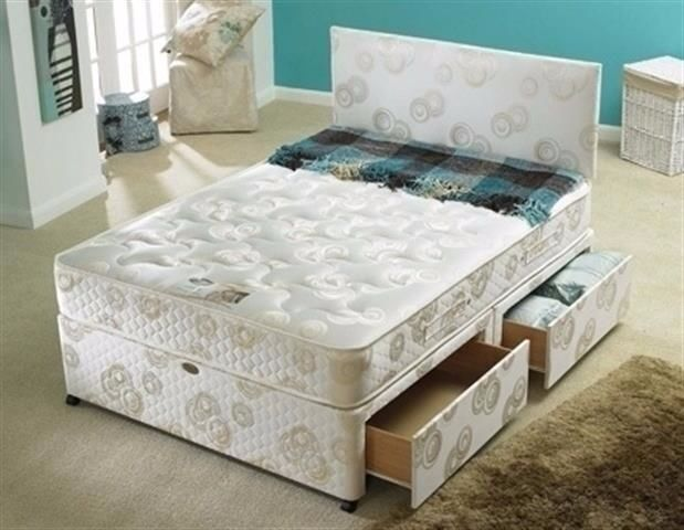 Brand New ! amazing offer ! DOUBLE Divan Bed with Luxury Super Orthopedic Mattress headboard drawers