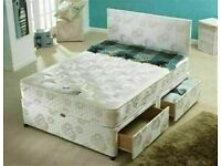 🔵💖🔴50% SALE OFF NEW🔵💖🔴DIVAN SINGLE-DOUBLE-SMALL DOUBLE & KING SIZE BED BASE w MATTRESSES