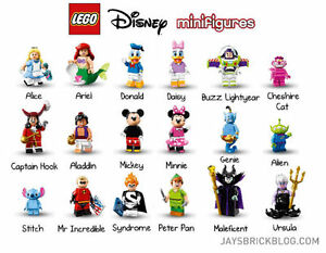 Lego Disney Minifigures Series 1 - Complete Set For Sale Oakville / Halton Region Toronto (GTA) image 1