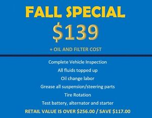 SAVE OVER $117.00 - FALL INSPECTION - UNTIL SEPT 30st