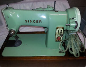 Heavy Duty 1958 SINGER 185J Sewing Machine Portable