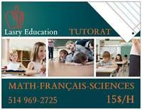 Tutorat et aide aux devoirs MATH/FRANÇAIS/SCIENCE