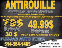 CHANGEMENT DES PNEUS/TIRE CHANGE 35$,ANTIROUILLE/ANTIRUST 49.99$