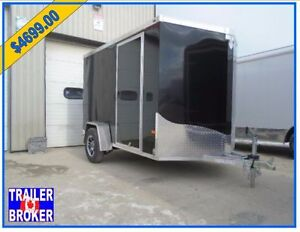 6 x 10 All Aluminum ,wedge Nosed Cargo trailer