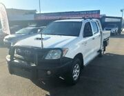 2007 Toyota Hilux KUN26R MY08 SR DUAL CAB White Manual Cab Chassis Garbutt Townsville City Preview