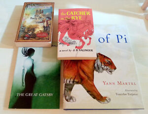 LIKE NEW Classics The Great Gatsby Catcher in the Rye Life of Pi Kitchener / Waterloo Kitchener Area image 1
