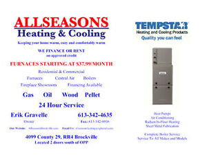 Furnaces starting at $37.99/month