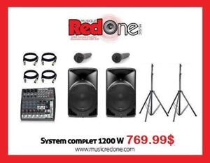 FIN DE LIGNE *** IMBATTABLE ! FULL SYSTEM COMPLET - 1200WATTS 12PO INCHES* WOW !!! ALTO SPEAKER