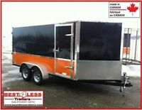 7' x 14' x 6' Tall Enclosed V-Nose toy hauler 2 Year warranty