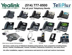 YEALINK IP VOIP TELEPHONES STARTING AT $75.00.