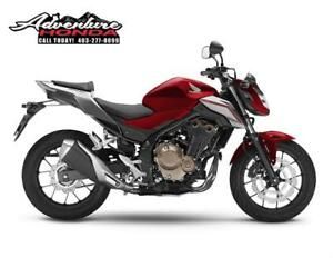NOW IN STOCK! 2018 CB500F Naked Sport Bike! Year:2018 Color: Red