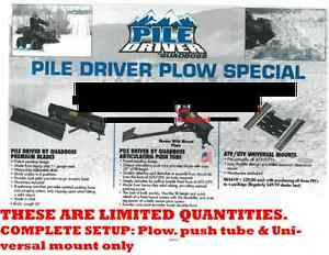ATV UTV PLOW $394NEW Complete setup w/Blade, pushtube &mount