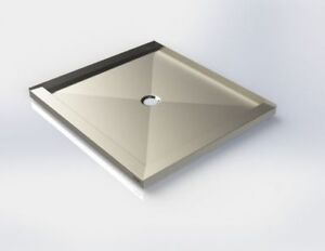Stainless steel shower base made in canada